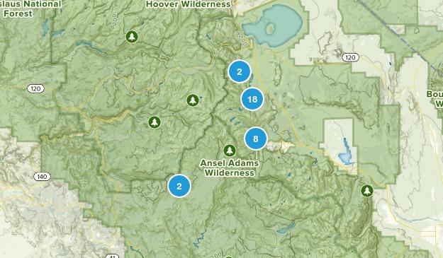 June Lake, California Hiking Map