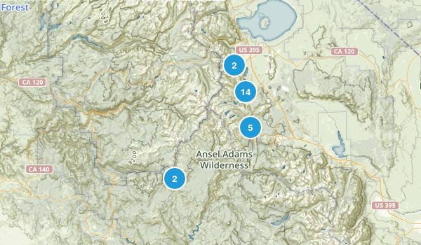 June Lake, California Lake Map