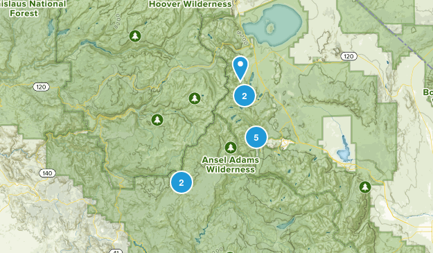 June Lake, California River Map