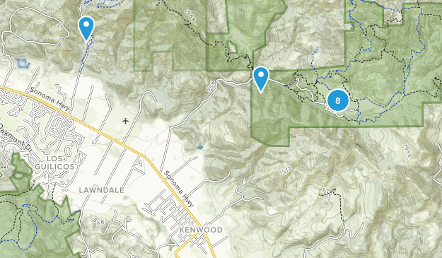 Kenwood, California Birding Map
