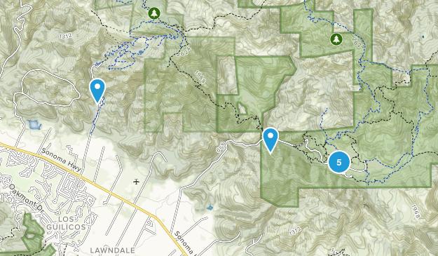 Kenwood, California Nature Trips Map