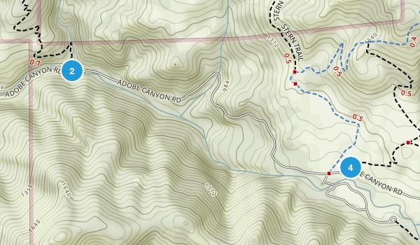 Kenwood, California Trail Running Map