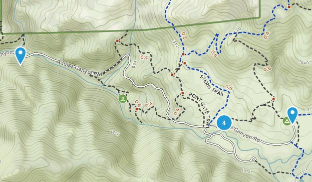 Kenwood, California Wild Flowers Map