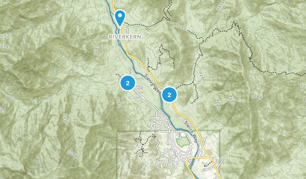 Kernville, California Hiking Map