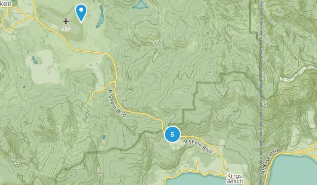 Kings Beach, California Hiking Map