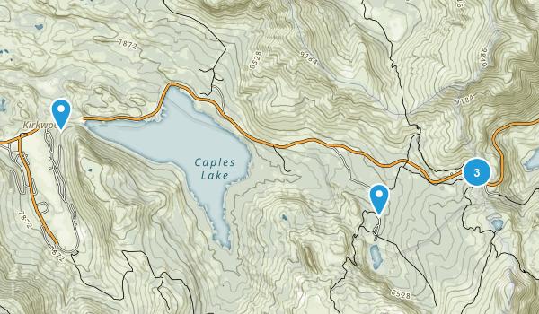 Kirkwood, California Backpacking Map
