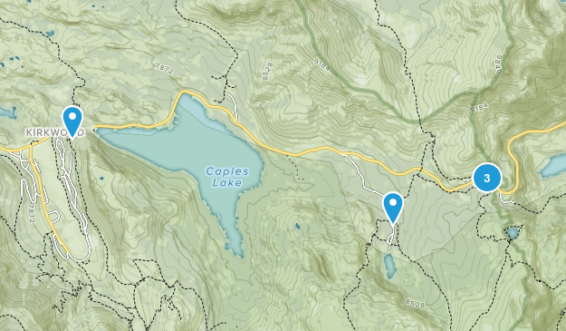 Kirkwood, California Forest Map