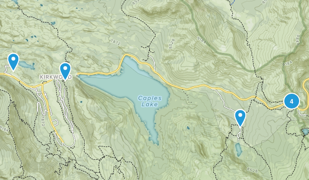 Kirkwood, California Lake Map