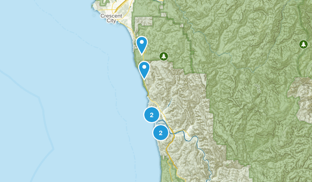 Klamath, California Birding Map