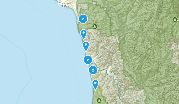 Klamath, California Hiking Map