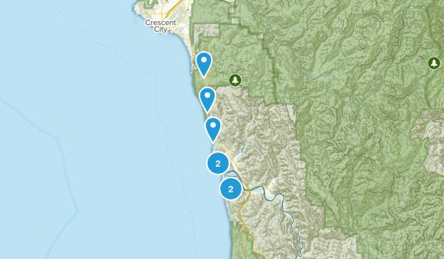 Klamath, California Nature Trips Map