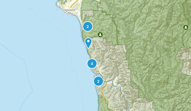 Klamath, California Walking Map