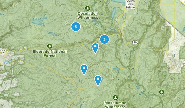 Kyburz, California Hiking Map