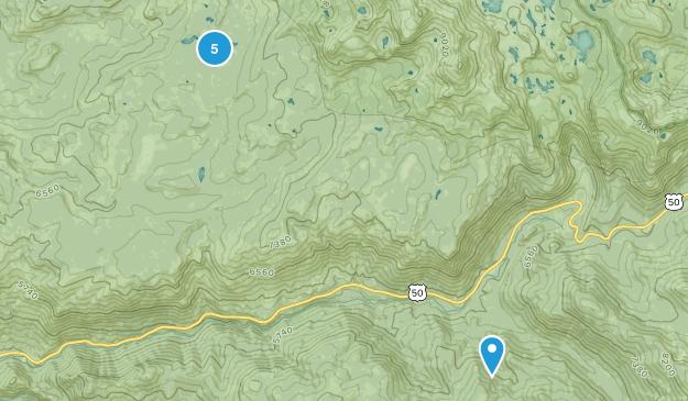 Kyburz, California Lake Map