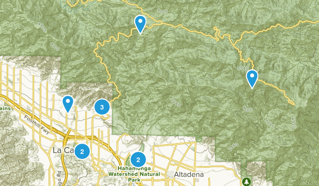 La Canada Flintridge, California Dogs On Leash Map
