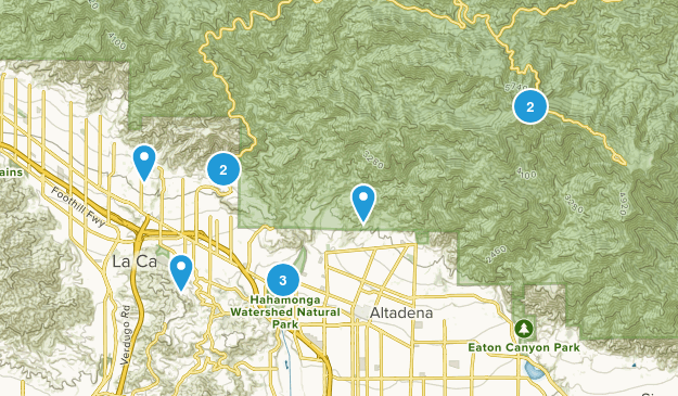 La Canada Flintridge, California Mountain Biking Map