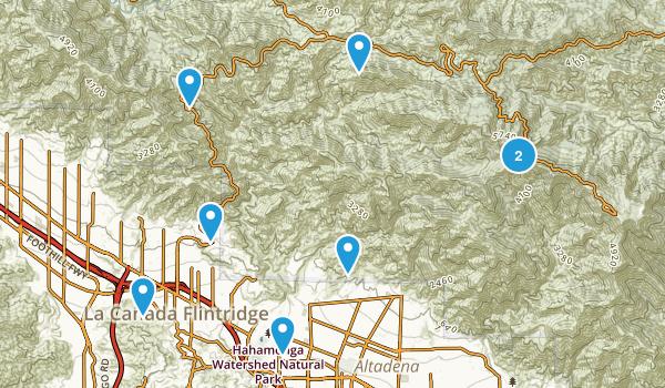 La Canada Flintridge, California Trail Running Map