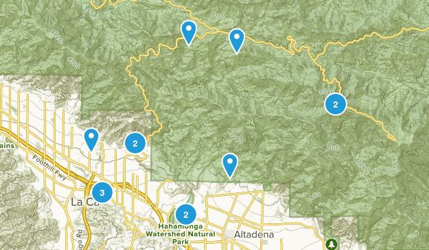 La Canada Flintridge, California Walking Map