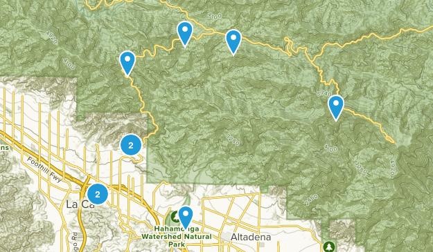 La Canada Flintridge, California Wild Flowers Map