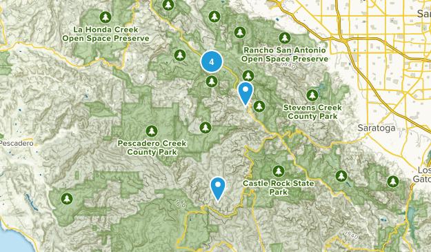 La Honda, California Mountain Biking Map