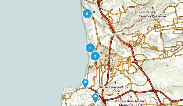 La Jolla, California Hiking Map