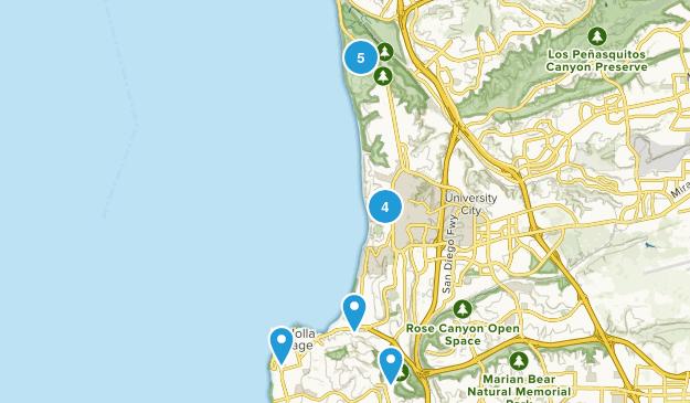 La Jolla, California Nature Trips Map