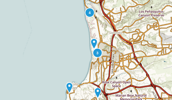 La Jolla, California Trail Running Map