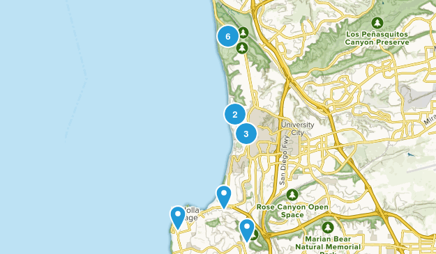 La Jolla, California Views Map