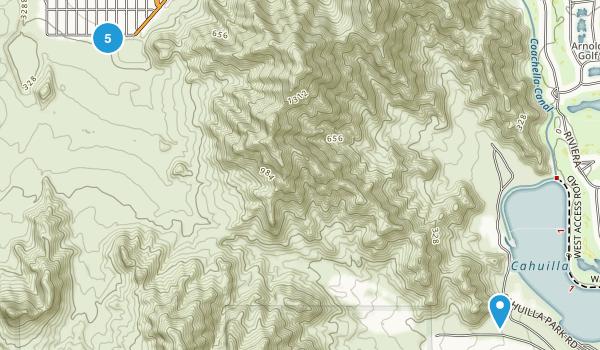 La Quinta, California Hiking Map
