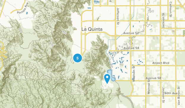 La Quinta, California Trail Running Map
