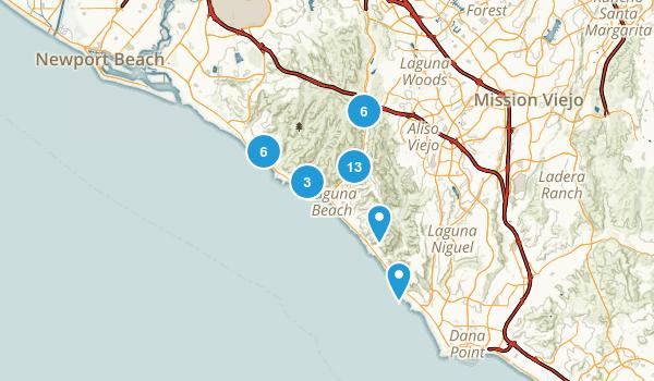 Laguna Beach, California Hiking Map