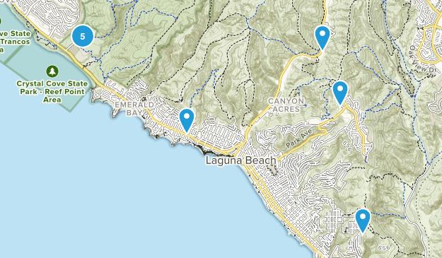 Laguna Beach, California Mountain Biking Map
