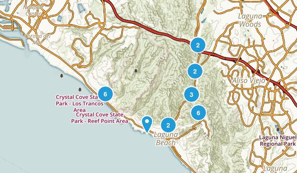 Laguna Beach, California Nature Trips Map