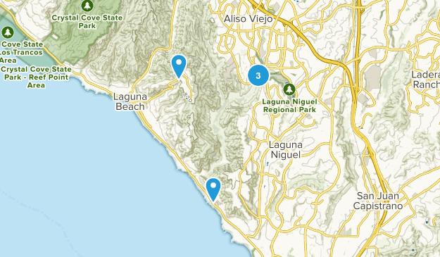 Laguna Niguel, California No Dogs Map