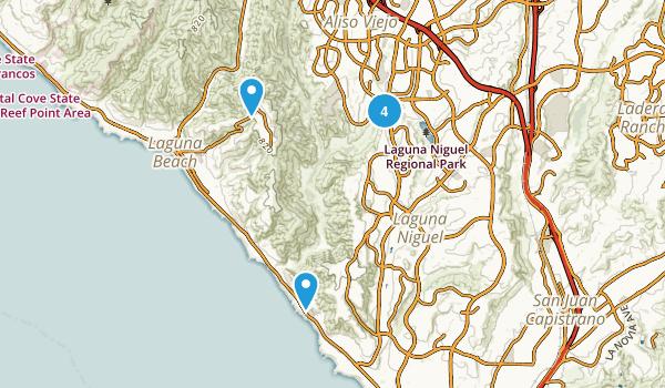 Laguna Niguel, California Forest Map
