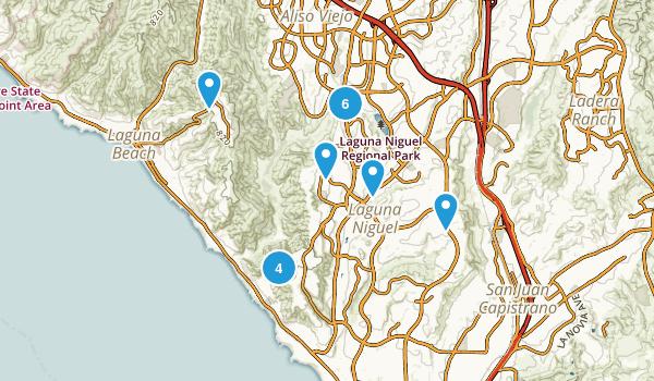 Laguna Niguel, California Hiking Map