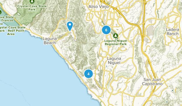Laguna Niguel, California Nature Trips Map