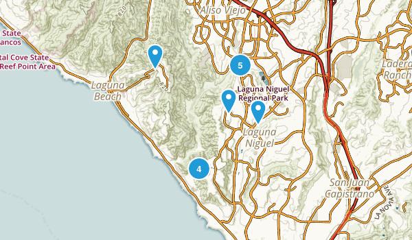 Laguna Niguel, California Walking Map