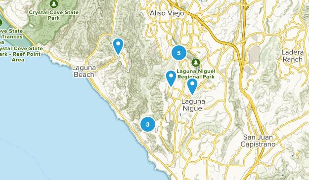 Laguna Niguel, California Wild Flowers Map