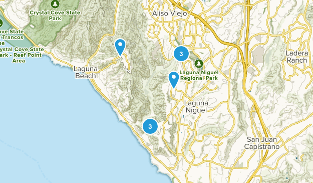 Laguna Niguel, California Wildlife Map
