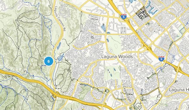 Laguna Woods, California Hiking Map