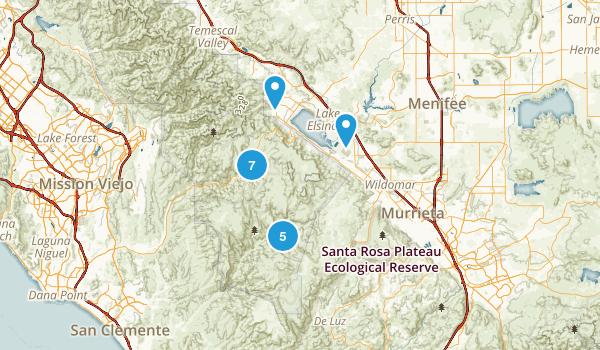 Lake Elsinore, California Birding Map