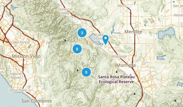 Lake Elsinore, California Walking Map