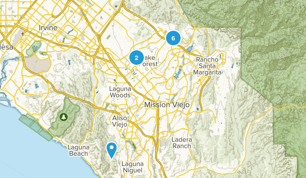 Lake Forest, California Hiking Map