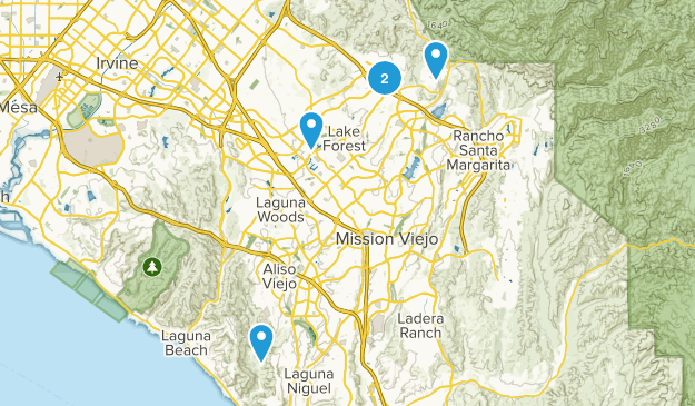 Lake Forest, California Trail Running Map