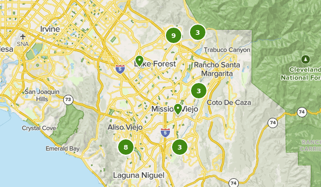 lake forest california map Best Running Trails Near Lake Forest California Alltrails lake forest california map