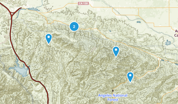 Lake Hughes, California Nature Trips Map