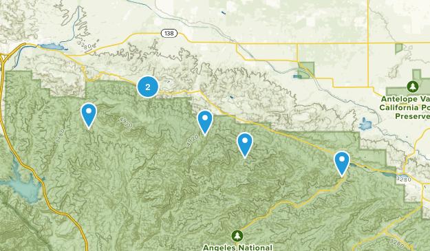 Lake Hughes, California Views Map