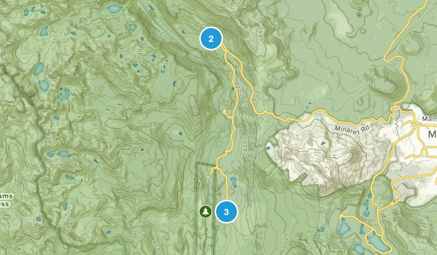 Lake Mary, California Camping Map