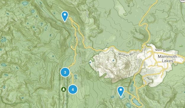 Lake Mary, California Forest Map